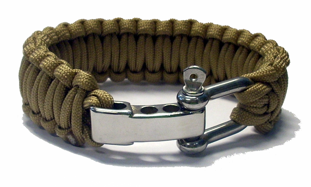 Survival bracelet coyote