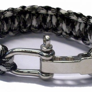 Survival bracelet grijs-wit