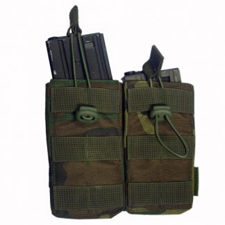 Open M4 mag pouch dubbel US Woodland